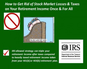 Living Benefit Life Insurance Gets Rid of Taxes on Retirement Income & Stock Market Losses